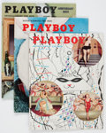 Magazines:Miscellaneous, Playboy #3-14 Group (HMH Publishing, 1954-55) Condition: AverageVG/FN, except as noted.... (Total: 12 Items)