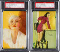 Non-Sport Cards:Lots, 1941 Mutoscope 'All American Girls PSA Mint 9 Pair (2). ...