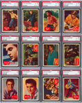Non-Sport Cards:Sets, 1956 Topps Elvis Presley High Grade Near Set (53/66). ...