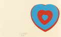 Fine Art - Work on Paper:Print, MARCEL DUCHAMP (French, 1887-1968). Coeurs Volants (FlutteringHearts), 1961. Silkscreen in colors on wove paper. 12-3/4...
