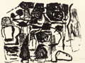 Fine Art - Work on Paper:Print, PHILIP GUSTON (American, 1913-1980). Untitled, 1963.Lithograph on Rives BFK paper. 25-1/4 x 33-1/2 inches (64.1 x 85.1...