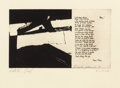 Fine Art - Work on Paper:Print, FRANZ KLINE (American, 1910-1962). Untitled (O'Hara Poem),1960. Etching and aquatint. 8-1/4 x 14-3/8 inches (21.0 x 36....