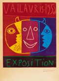 Prints, PABLO PICASSO (Spanish, 1881-1973). Vallauris Exposition, 1956. Linocut in colors on Arches paper. 25-3/4 x 21-1/4 inche...