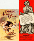 Miscellaneous:Ephemera, [Edgar Rice Burroughs]. [Tarzan]. Pair of Publisher's PromotionalCards for Various Tarzan Books. Includes: Illu... (Total: 2Items)