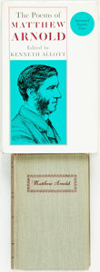 Books:Literature Pre-1900, [Matthew Arnold]. Two Books of Poetry by Matthew Arnold. LionelTrilling, editor. The Portable Matthew Arnold. New Y...(Total: 2 Items)