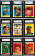 Baseball Cards:Lots, 1958 Topps Baseball SGC Graded Collection (65). ...