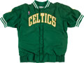 Basketball Collectibles:Uniforms, 1992-93 Dee Brown Game Worn Boston Celtics Warmup Suit. ...