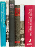Books:Literature Pre-1900, [Poetry]. Group of Six Books. Various publishers and dates. ...(Total: 6 Items)