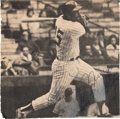 Baseball Collectibles:Photos, Circa 1979 Thurman Munson Signed Magazine Photograph....