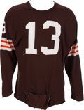 Football Collectibles:Uniforms, 1962-63 Frank Ryan Game Worn Cleveland Browns Jersey....