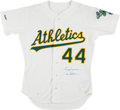 Baseball Collectibles:Uniforms, 1989 Reggie Jackson Game Issued Oakland Athletics Jersey. ...