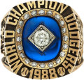 Baseball Collectibles:Others, 1988 Los Angeles Dodgers World Championship Ring Presented toPitcher Pat Zachry....