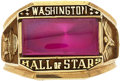 Baseball Collectibles:Others, 1970's Washington Hall of Stars Induction Ring Presented to HarmonKillebrew....