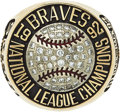 Baseball Collectibles:Others, 1992 Atlanta Braves National League Championship Ring Presented to Scout....