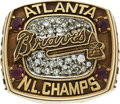 Baseball Collectibles:Others, 1996 Atlanta Braves National League Championship Ring Presented to Scout.. ...