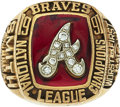 Baseball Collectibles:Others, 1991 Atlanta Braves National League Championship Ring Presented toScout....