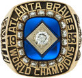 Baseball Collectibles:Others, 1995 Atlanta Braves World Championship Ring Presented to Scout....