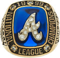 Baseball Collectibles:Others, 1999 Atlanta Braves National League Championship Ring Presented to Scout....