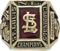 Baseball Collectibles:Others, 1968 St. Louis Cardinals National League Championship RingPresented to Pitcher Wayne Granger....