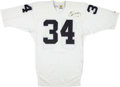 Football Collectibles:Uniforms, 1990 Bo Jackson Game Issued, Signed Los Angeles Raiders Jersey....