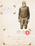 Autographs:Others, Circa 1930 Multi-Sport Autograph Collection with Thorpe, Foxx, Rockne....