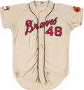 Baseball Collectibles:Uniforms, 1967 Mack Jones Game Worn Atlanta Braves Jersey....