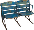 Baseball Collectibles:Others, 1920's Yankee Stadium Seats Pair....