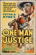 "Movie Posters:Western, One Man Justice (Columbia, 1937). One Sheet (27"" X 41""). Western.. ..."
