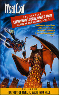 """Bat Out of Hell II: Back Into Hell & Other Lot (MCA, 1993). Posters (42) (25.25"""" X 38"""" & 26&qu..."""