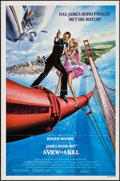 "Movie Posters:James Bond, A View to a Kill (United Artists, 1985). One Sheet (27"" X 41"")Style A. James Bond.. ..."