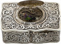 Timepieces:Musical - Mechanical , Fine Sterling Silver Singing Bird Box. ...