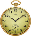 Timepieces:Pocket (post 1900), Swiss 18k Gold Watch For Türler. ...