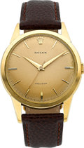 Timepieces:Wristwatch, Rolex Ref. 9004 Vintage 18k Gold Wristwatch, circa 1950's. ...