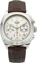 Timepieces:Wristwatch, Tag Heuer Ref. CR2111 Steel Monza Chronograph. ...