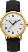 Timepieces:Wristwatch, Baume & Mercier 18k Gold Ref. 65547 Automatic. ...
