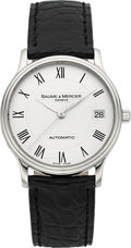 Timepieces:Wristwatch, Baume & Mercier Gent's 18k White Gold Automatic. ...