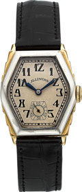 "Timepieces:Wristwatch, Illinois ""Ritz"" Two Tone Vintage Wristwatch. ..."