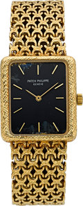 Timepieces:Wristwatch, Patek Philippe Ref. 4224 Lady's Gold Bracelet Watch. ...