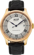 Timepieces:Wristwatch, Tissot Ref. H700.333 Large 18k Rose Gold Automatic Chronometer. ...