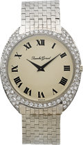 Timepieces:Wristwatch, Bueche Girod White Gold Diamond Wristwatch. ...
