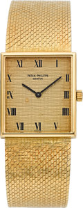 Timepieces:Wristwatch, Patek Philippe Ref. 3550/1 Gold Bracelet Watch, circa 1965. ...