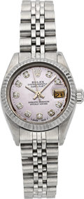 Timepieces:Wristwatch, Rolex Ref. 6900 Lady's Oyster Perpetual Datejust PinkMother-of-Pearl Dial. ...