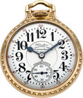 Timepieces:Pocket (post 1900), Hamilton Rare 992 Special Gold Damaskeened Movement, Full Marked Dial, circa 1934. ...