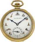 Timepieces:Pocket (post 1900), Dudley Model 3 Masonic Pocket Watch. ...