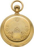 Timepieces:Pocket (pre 1900) , Waltham Heavy 18k Gold Model 77 Hunters Case, circa 1881. ...