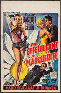 "Movie Posters:Foreign, Mademoiselle Striptease (Cine-Vog-Films, 1957). Belgian (14"" X 21.25""). Foreign.. ..."