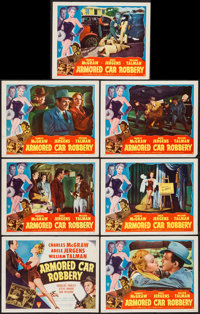 "Armored Car Robbery (RKO, 1950). Title Card & Lobby Cards (6) (11"" X 14""). Film Noir. ... (Total: 7 It..."
