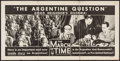 """Movie Posters:Documentary, The March of Time (RKO, 1942). Poster (14"""" X 28"""") """"The Argentine Question."""" Documentary.. ..."""
