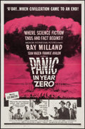 """Movie Posters:Science Fiction, Panic in Year Zero (American International, 1962). One Sheet (27"""" X 41""""). Science Fiction.. ..."""