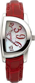 "Timepieces:Wristwatch, Jean d' Eve Lady's Unused ""Secton Nova"" Mother-Of-Pearl & Steel Sector Watch. ..."
